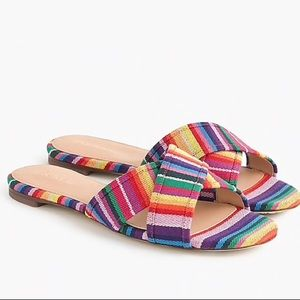 Shoes - NEW J Crew Multistripe Cora crisscross sandals
